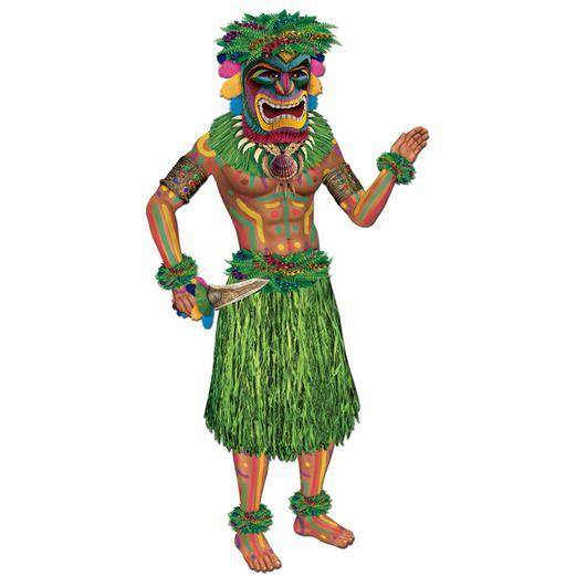 Luau Decorations Tiki Man Cutout Image