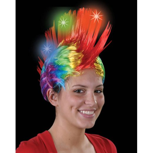 Glow Lights Rainbow LED Mohawk Image