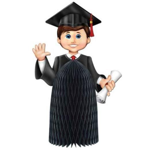 Graduation Decorations Boy Graduate Centerpiece Image