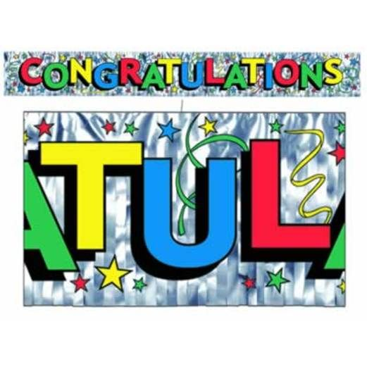Graduation Decorations Congratulations Fringe Banner Image