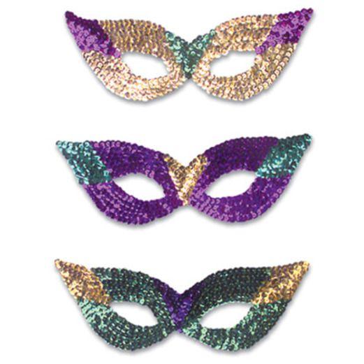 Mardi Gras Party Wear Mardi Gras Sequin Masks Image