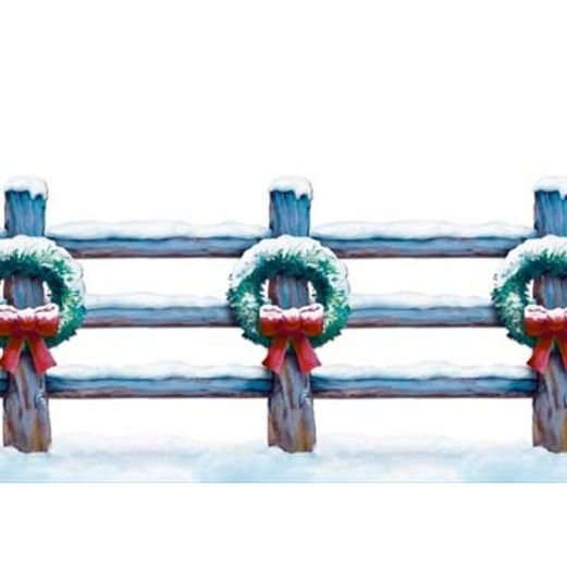 Christmas Decorations Holiday Fence Border Image
