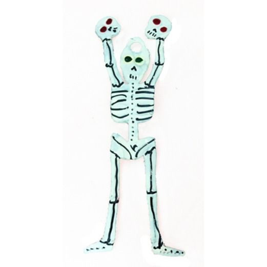 Day of the Dead Decorations Skeleton Tin Ornament Image