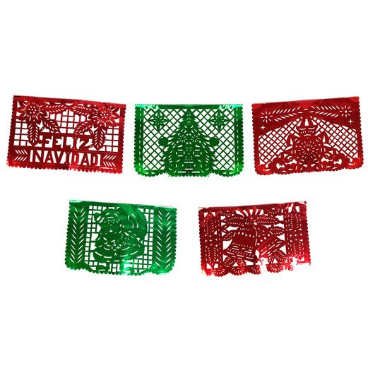 Christmas Decorations Feliz Navidad Metallic Picado Banner Image