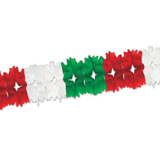 Cinco de Mayo Decorations Red, White, and Green Pageant Garland Image