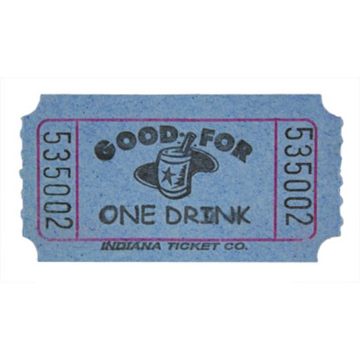 Tickets & Wristbands Blue Drink Ticket Roll Image