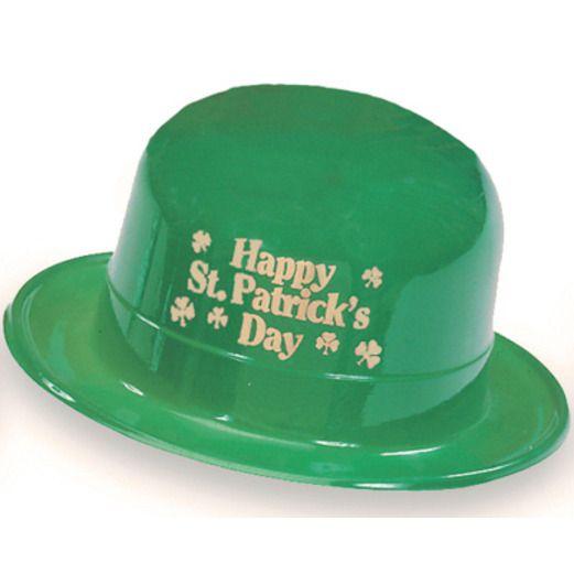 St. Patrick's Day Hats & Headwear St. Patrick's Day Plastic Derby Image