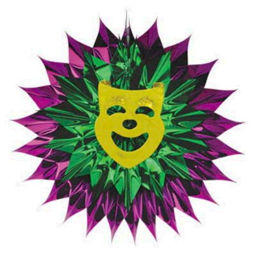 Mardi Gras Decorations Mardi Gras Fan Burst Image