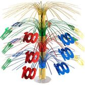 Birthday Party Decorations 100th Multicolor Cascade Centerpiece Image