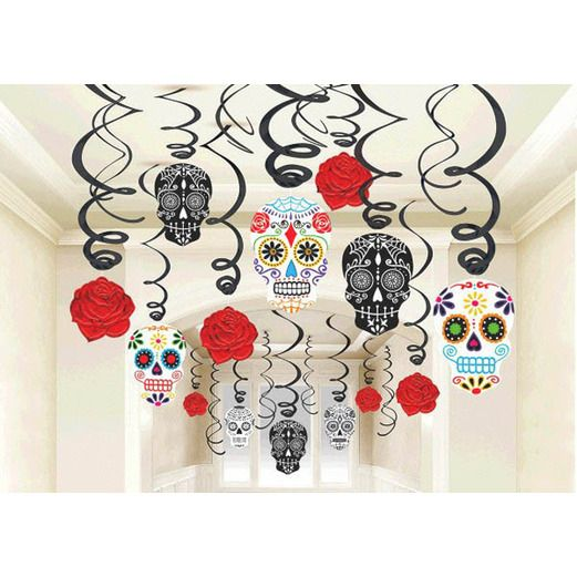 Day of the Dead Decorations Day of the Dead Swirls Image