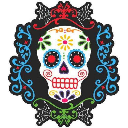 Day of the Dead Decorations Day of the Dead Sugar Skull Cutout Image