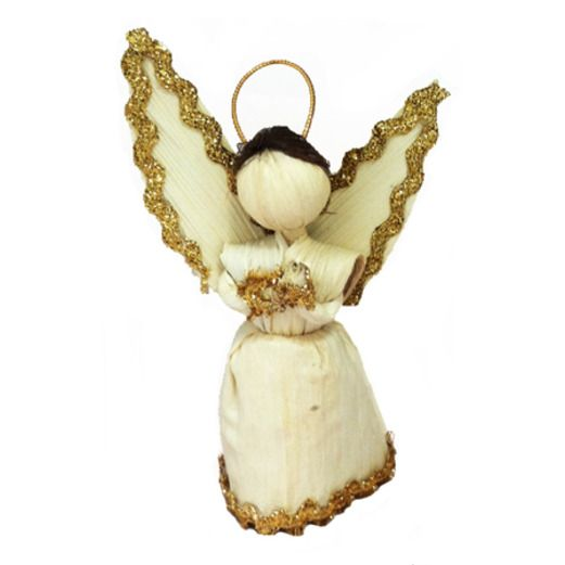 Christmas Decorations Small Cornhusk Angel Image