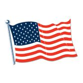 "4th of July Decorations 18"" American Flag Cutout Image"