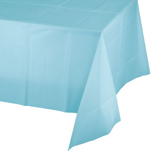 Baby Shower Table Accessories Rectangular Table Cover Light Blue Image