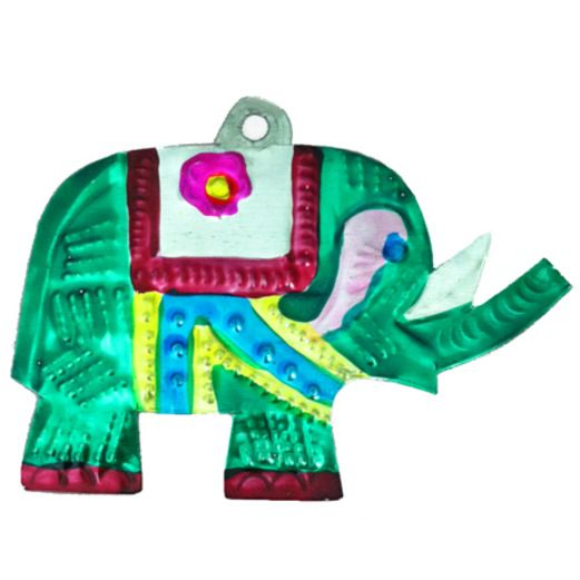 Fiesta Decorations Elephant Tin Ornament Image