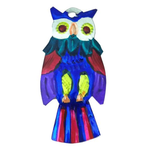Decorations Owl Tin Ornament Image