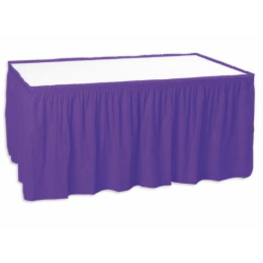 Purple Table Skirt