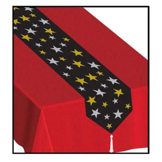 New Years Table Accessories Printed Stars Table Runner Image