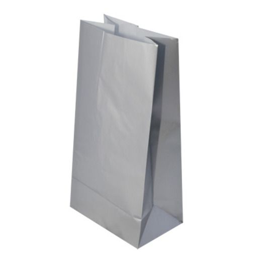 New Years Gift Bags & Paper Silver Metallic Party Bags Image
