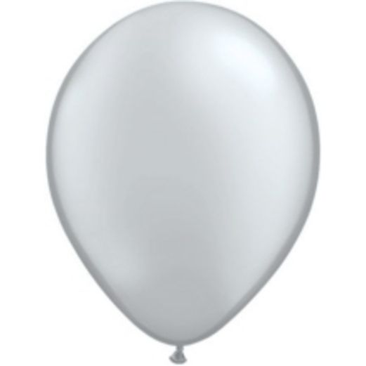 "New Years Balloons 5"" Qualatex Silver Balloons Image"
