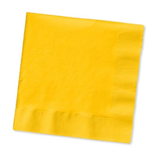 Thanksgiving Table Accessories Golden Yellow Beverage Napkins Image