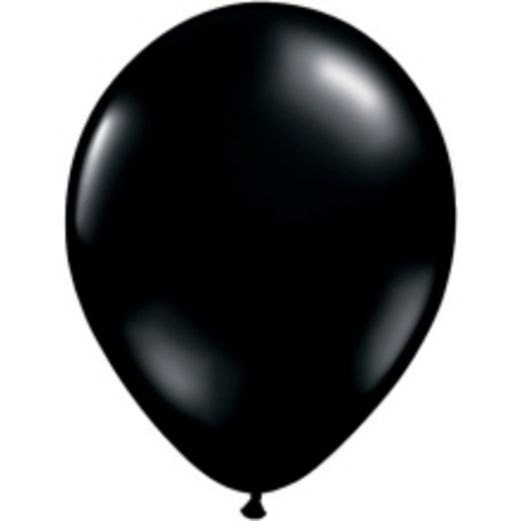 "Halloween Balloons 5"" Onyx Black Balloons Image"