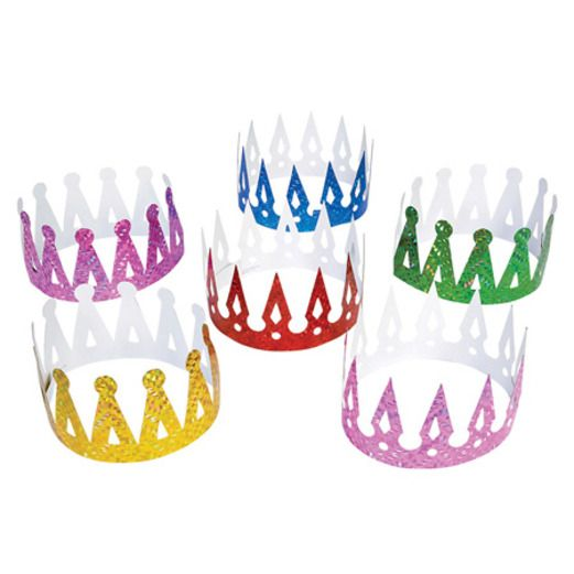 Birthday Party Hats & Headwear Prism Crowns 1dz Image