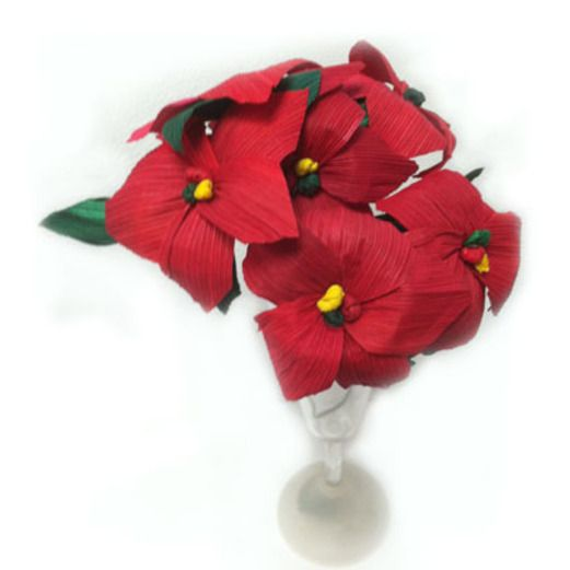 Christmas Decorations Small Red Poinsettia Image
