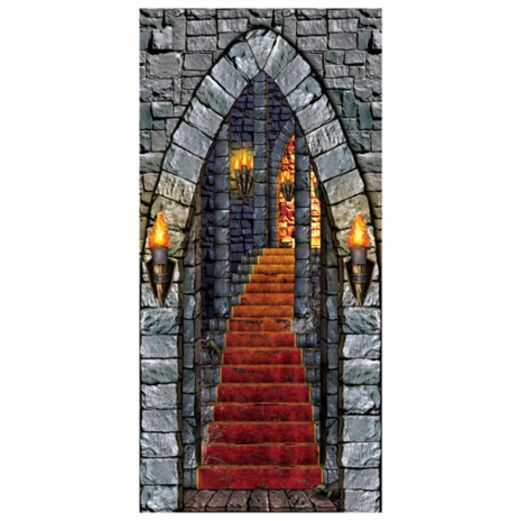 Halloween Decorations Castle Entrance Door Cover Image