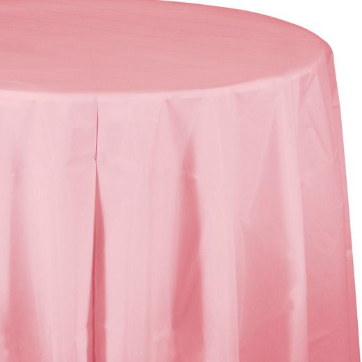 Table Accessories / Table Covers Round Table Cover Pink Image