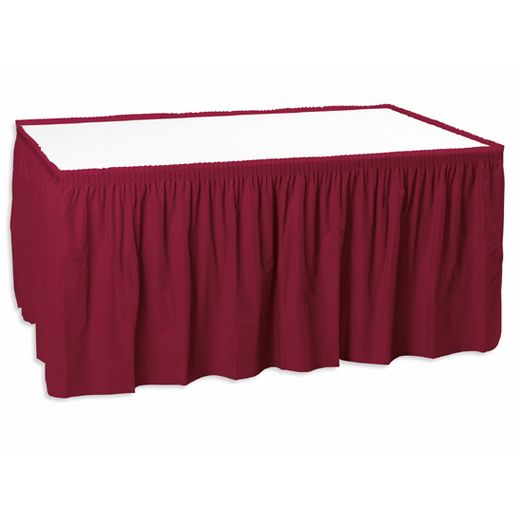 Table Accessories Burgundy Table Skirt Image