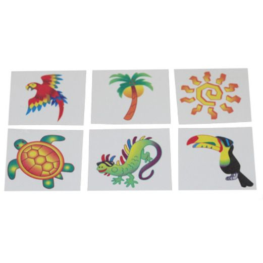 Luau Favors & Prizes Tropical Tattoos Image