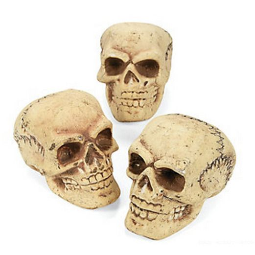 Halloween Decorations Small Foam Skulls Image