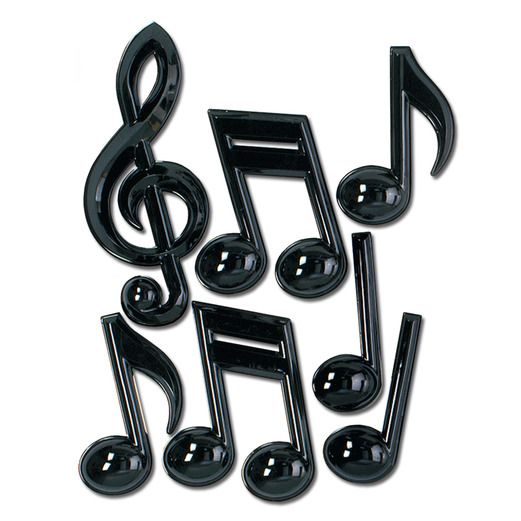 Fifties Decorations Plastic Musical Notes Image