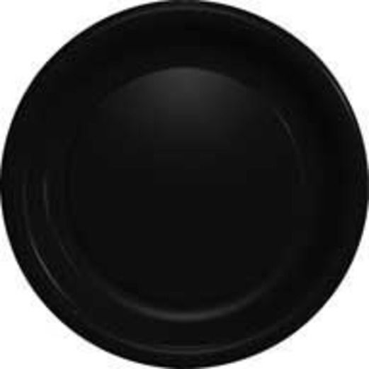 New Years Table Accessories Black Dinner Plates Image