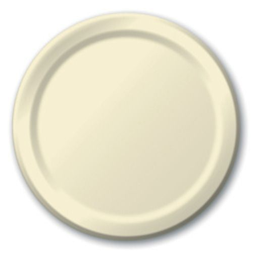 Wedding Table Accessories Ivory Dinner Plates Image