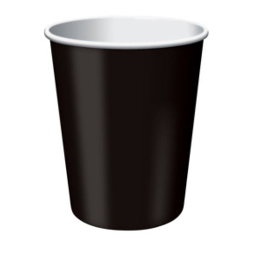 New Years Table Accessories Black Cups Image