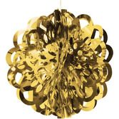 """New Years Decorations 16"""" Gold Foil Ball Image"""