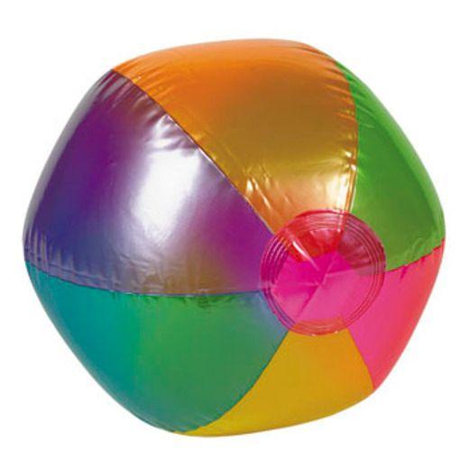 Luau Favors & Prizes Metallic Beach Ball Inflate Image