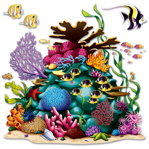 Luau Decorations Coral Reef Props Image