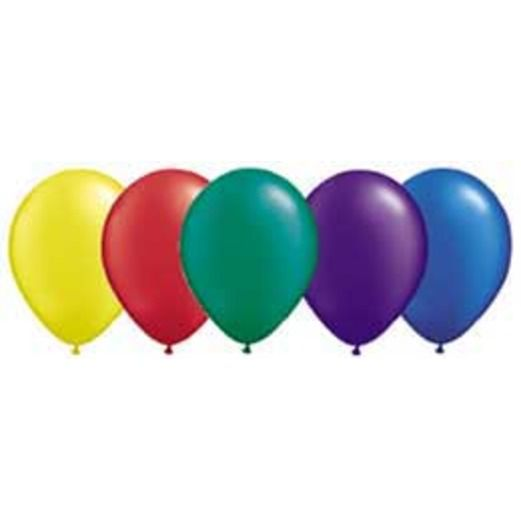 """New Years Balloons 11"""" Assorted Deep Pearl Balloons Image"""