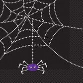 Halloween Table Accessories Spider Web Lunch Napkins Image