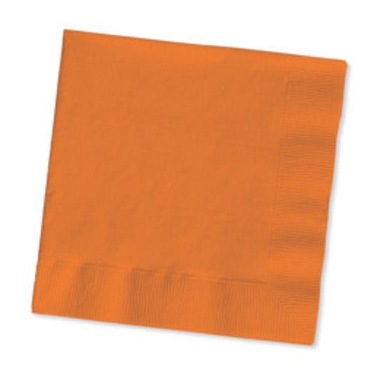 Halloween Table Accessories Orange Luncheon Napkins Image