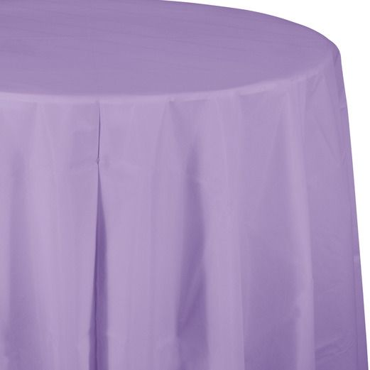 Easter Table Accessories Round Table Cover Lavender Image