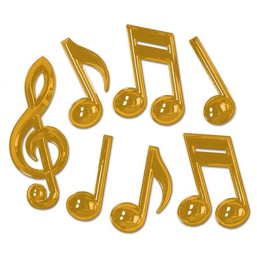 Fifties Decorations Gold Musical Notes Image