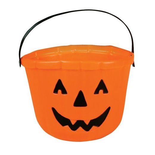 Halloween Favors & Prizes Jack O Lantern Bucket Image