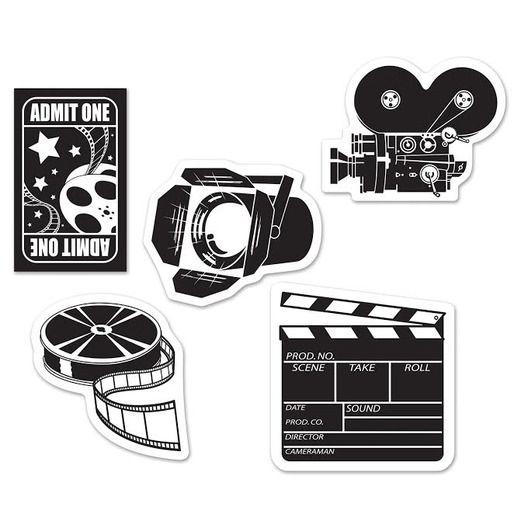 Awards Night & Hollywood Decorations Mini Movie Set Cutouts Image