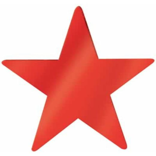 "4th of July Decorations 12"" Red Foil Star Image"