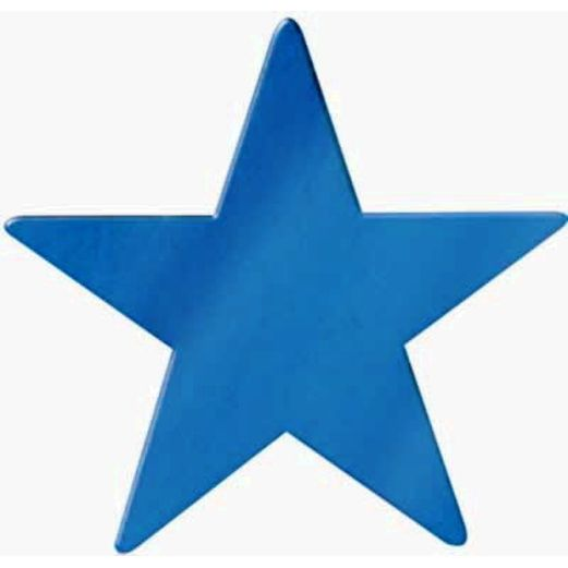 "4th of July Decorations 12"" Blue Foil Star Image"