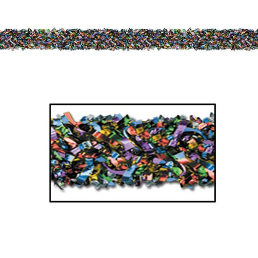 New Years Decorations Multicolor Metallic Festooning Garland Image